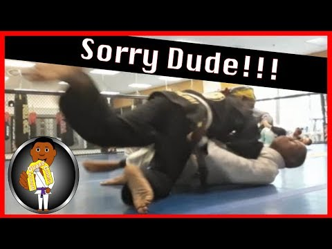 BJJ Roll No. 116 - Sorry Dude! - Bakari with Gabe at Smiley Academy