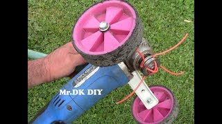 HOME MADE GRASS CUTTER USING ANGLE GRINDER / DIY 2018