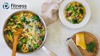 Easy 20 Minute Dinner: Healthy Broccoli and Mushroom Pasta