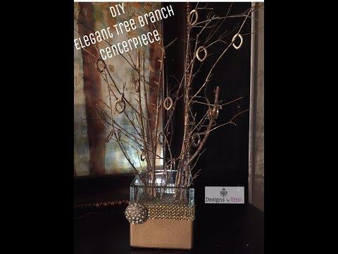 DIY Elegant Rustic Tree Branches
