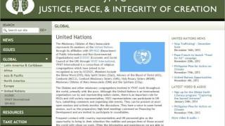 christian values in united nations 0762 words of general director of justice and peace office usa