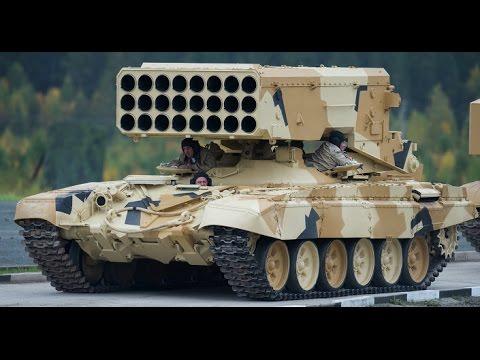Russian TOS 1A Mobil Multiple Rocket Launcher (Firing Test)
