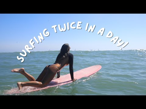 A Day In The Life | Surfing Twice And Designing A Custom Wetsuit