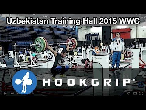 Team Uzbekistan - 2015 WWC Training Hall (Nov 17)