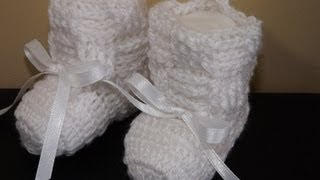 Repeat youtube video Crochet Boticas para Bebe' Recien Nacido
