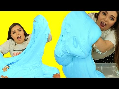 DIY MEGA FLUFFY SLIME! Giant Slime Monster!