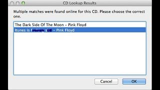 The pitfalls of crowdsourced CD artist/title information