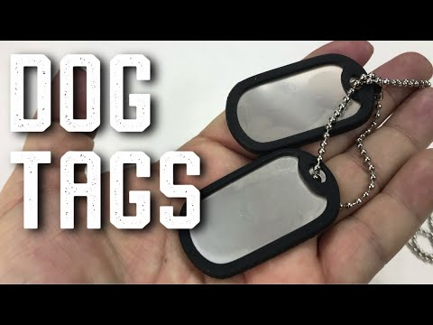 Blank Stainless Steel Dog Tag Set With Chains & Silencers Review