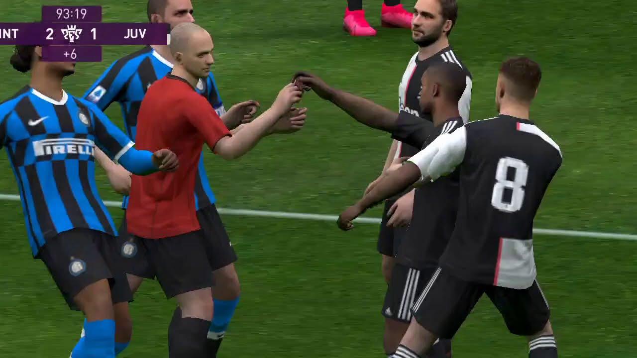 Inter Milan (2) vs Juventus (1) PES Mobile 2020