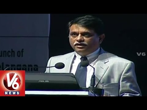 TS-iPASS Launch l Arvind Kumar on Industrial Policy & Solar Policy (12-06-2015)