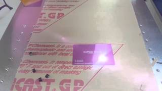 Cool 10w Fiber Optic Laser Engraving a Business Card