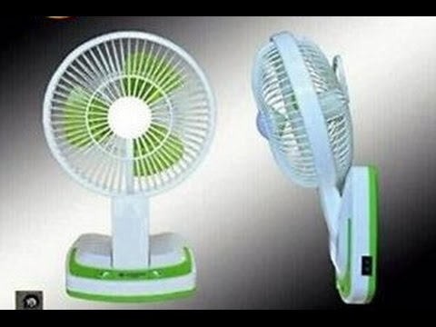 Rechargeable And Portable Table Fan With Led Lights Youtube