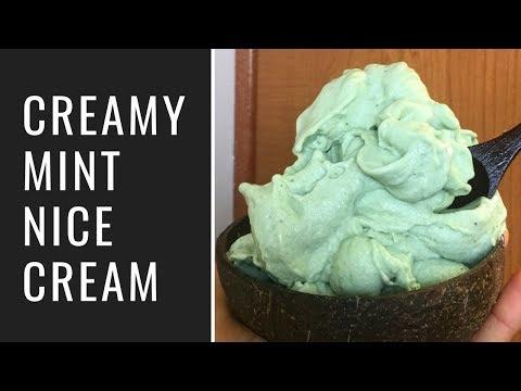 Creamy Mint Nice Cream (Vegan, Low Fat)