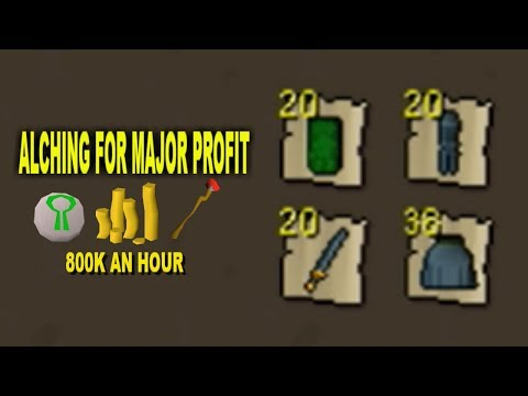 OSRS - Alching For Profit! (Part 2 JUST ITEMS)