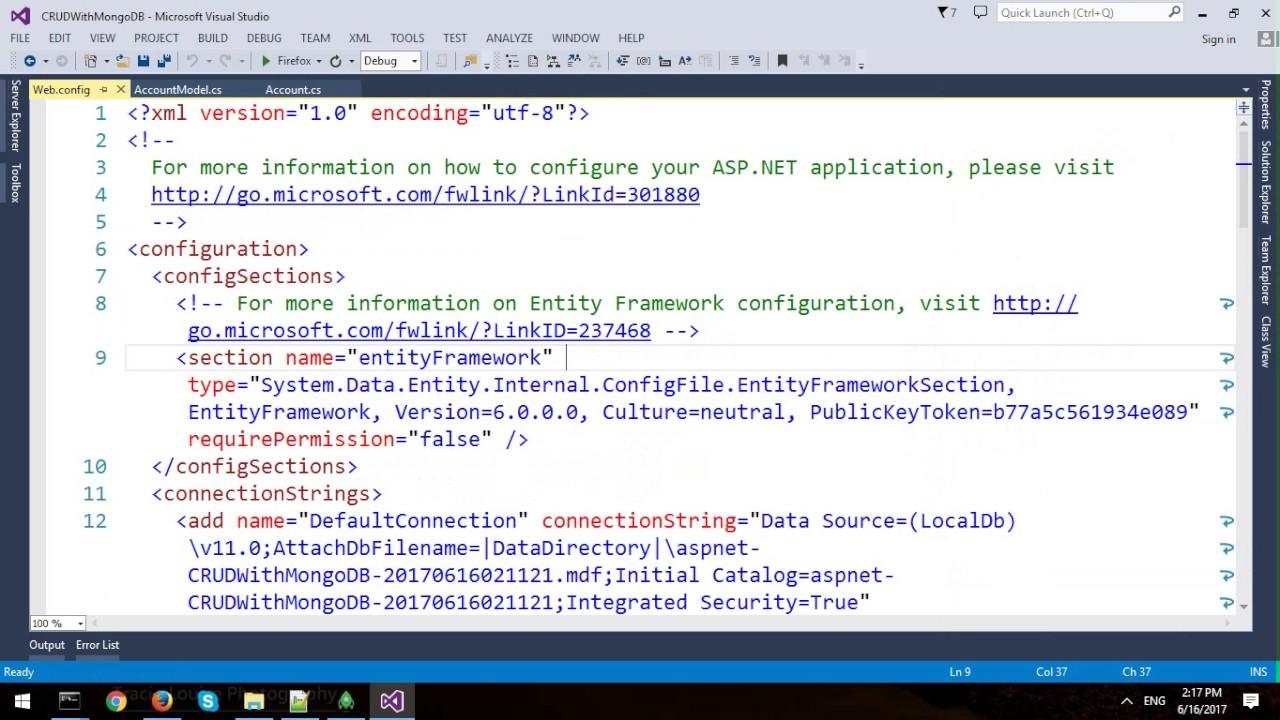 CRUD Operation Using ASP NET MVC And MongoDB