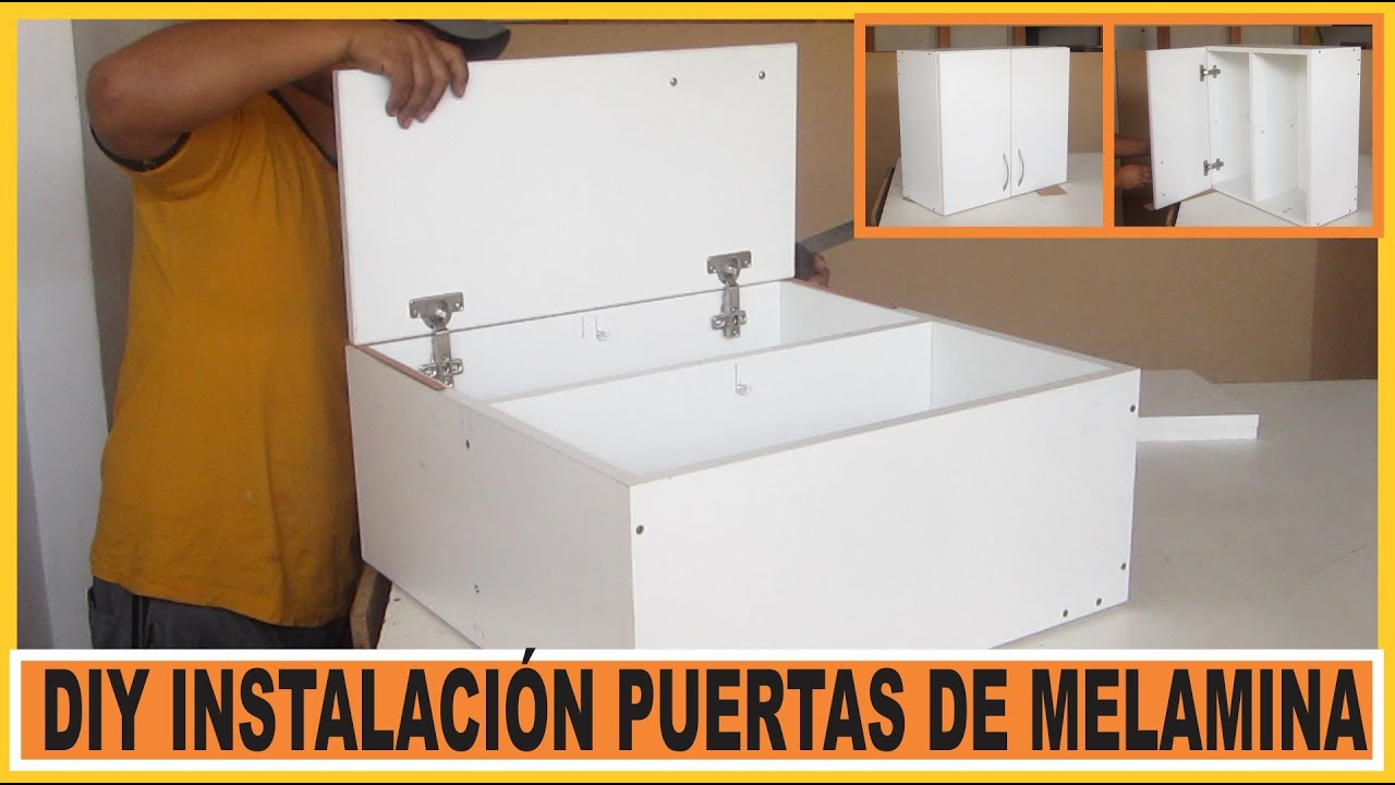 Como hacer muebles instalar puertas en muebles de cocina for Programa para crear muebles de melamina