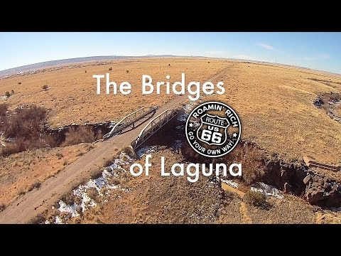 Bridge on Route 66 leading to Laguna New Mexico. Two other mystery paths shown also.