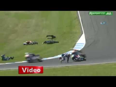 Moto GP 3'te Kaza Üstüne Kaza ART HABER