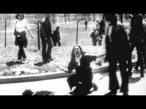 """Ohio"" by Crosby Stills Nash & Young is about the May 1970 Kent State University shootings where U.S. National Guard soldiers opened fire on Vietnam War protesters, killing four students."