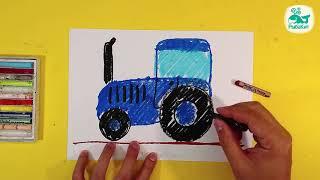 Урок для малышей   Рисуем Синий ТРАКТОР