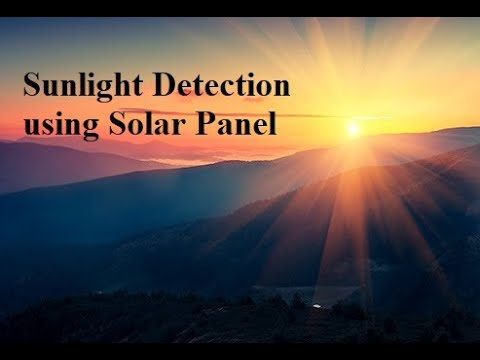 Sun light detection with solar panel (Logic One)