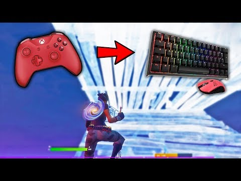 Controller Player Tries Keyboard & Mouse In Fortnite! (FIRST TIME)