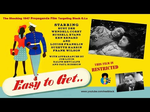 Easy To Get | VD Propaganda Film w/ Ruby Dee + Paul Robeson (1947) * R Rated *