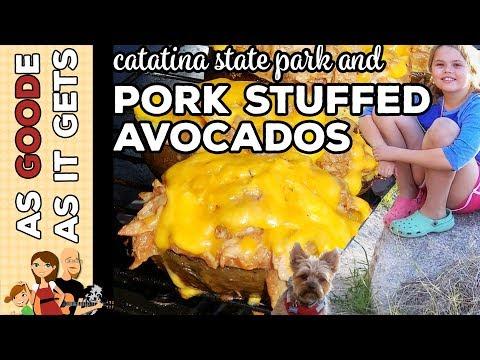 BBQ Pork Stuffed Avocados // Catalina State Park in Tucson, AZ // RV Living