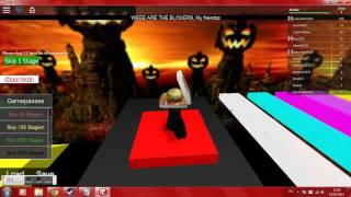 Roblox gameplay: Halloween Obby (Ezvid)