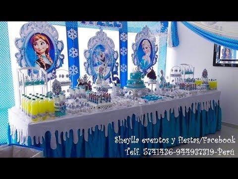 Frozen Decoración Temática De Fiesta De Niñas