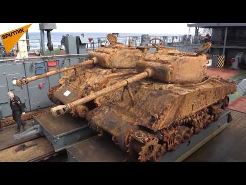 Russian Divers Retrieve US WWII-Era Tanks From Barents Sea