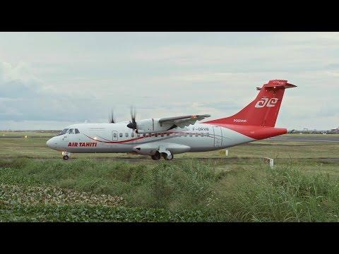 Air Tahiti (F-ORVB). Atterrissage. 18h19. 15/12/2016