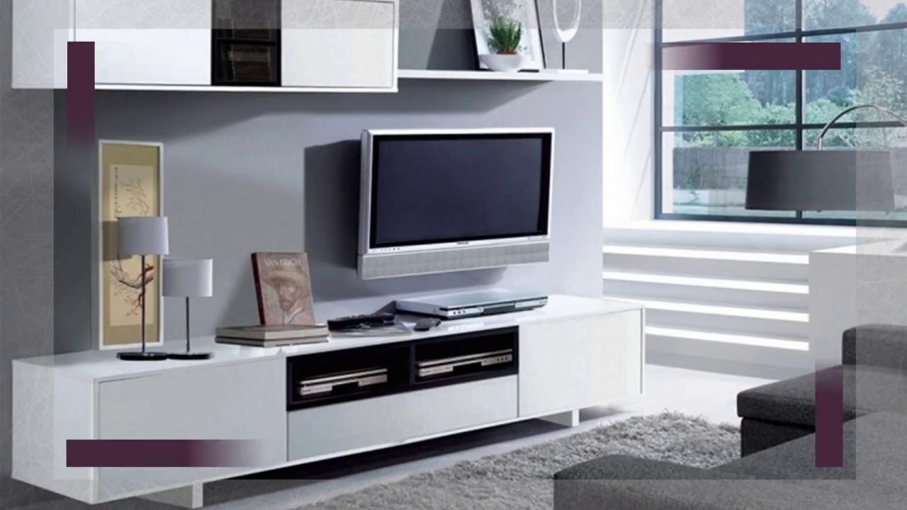 Mueble de comedor salon moderno libreria salón tv - YouTube