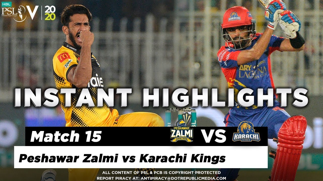Peshawar Zalmi vs Karachi Kings | Full Match Instant Highlights | Match 15 | 2 March | HBL PSL 2020
