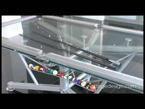 Glass Top Pool Table