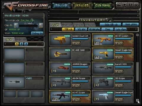 Bau vat CF, Hack Full Bau Vat CF, Bug Sung vinh vien bau vat CF, M4A1 RED, RPK, FOX, Hack Vcoin
