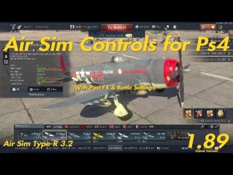 War Thunder | PS4 Air Sim Controls, Battle Settings, & Post FX (2019) - YouTube