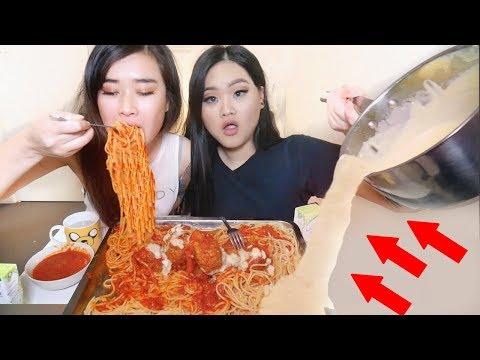 WATCH GIVEAWAY | Spaghetti Meatballs Mukbang Eating Show