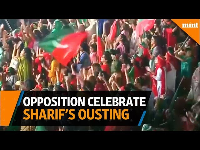 Pakistan opposition celebrates PM Sharif's ousting