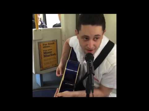 Busking on the tram making South Yorkshire happy!
