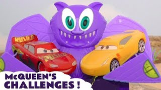 Cars McQueen race challenges with Hot Wheels Superhero Cars TT4U