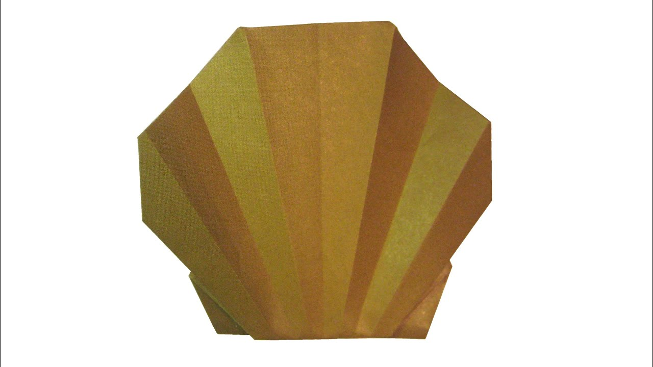 how to make origami shell youtube