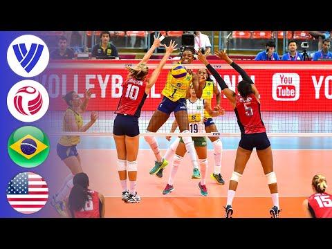 Brazil Vs. USA - Gold Medal Match   Women's Volleyball World Grand Prix 2016