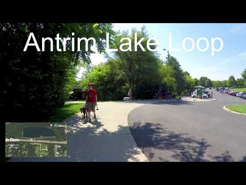Antrim Lake Loop Virtual Run with Ambient Sounds