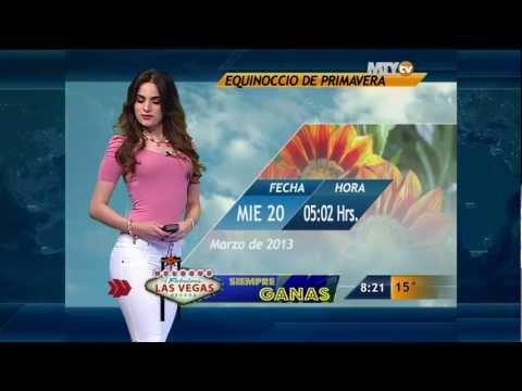 Fannia Lozano y el clima en Las Noticias Monterrey 08:00 AM 15-Mar-2013 Full HD