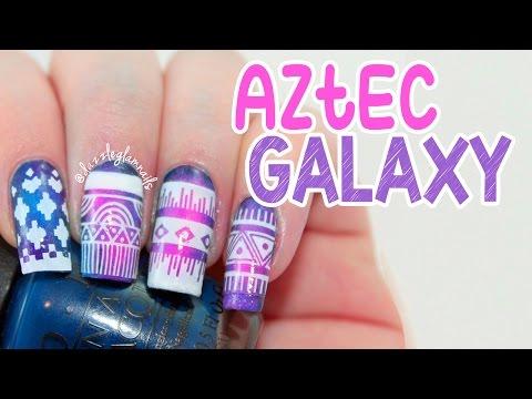 Aztec Galaxy Nail Art Tutorial