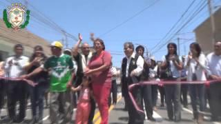 Inauguración de  Obra en la Calle Juan José Crespo - Hualmay 2015