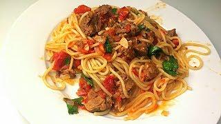 Спагетти с Тушенкой Отличная идея для Ужина