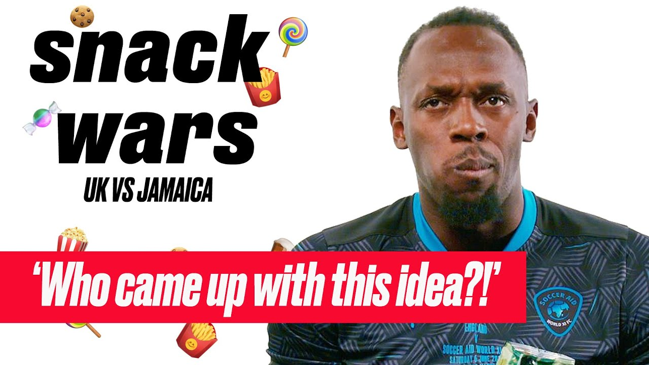 Usain Bolt Tries British and Jamaican Food | Snack Wars | SPORTbible