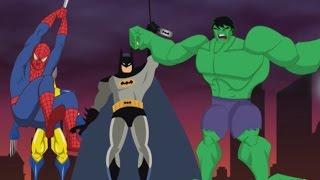 5 supereroi saltavano sul letto con Canzoni per Bambini in inglese